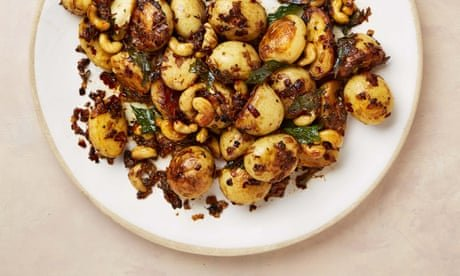 Meera Sodha's vegan recipe for potato salad with tamarind, coconut and cashews