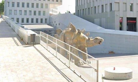 Missing man found dead inside Spanish dinosaur statue