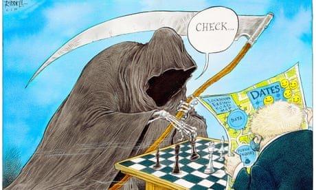 Covid puts Boris Johnson in check – cartoon