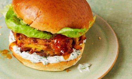 Meera Sodha's vegan recipe for onion and potato bhaji burgers