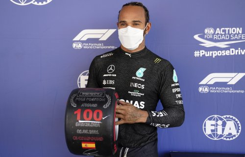 Lewis Hamilton makes history by claiming 100th F1 pole at Spanish GP
