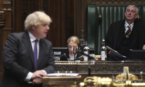 Speaker makes peace with Johnson after furious rebuke over being 'misled'