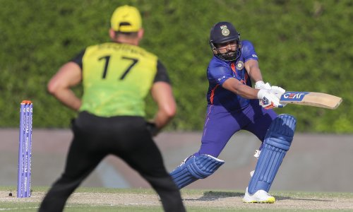 Australia hammered by Sharma and India in final T20 World Cup warmup