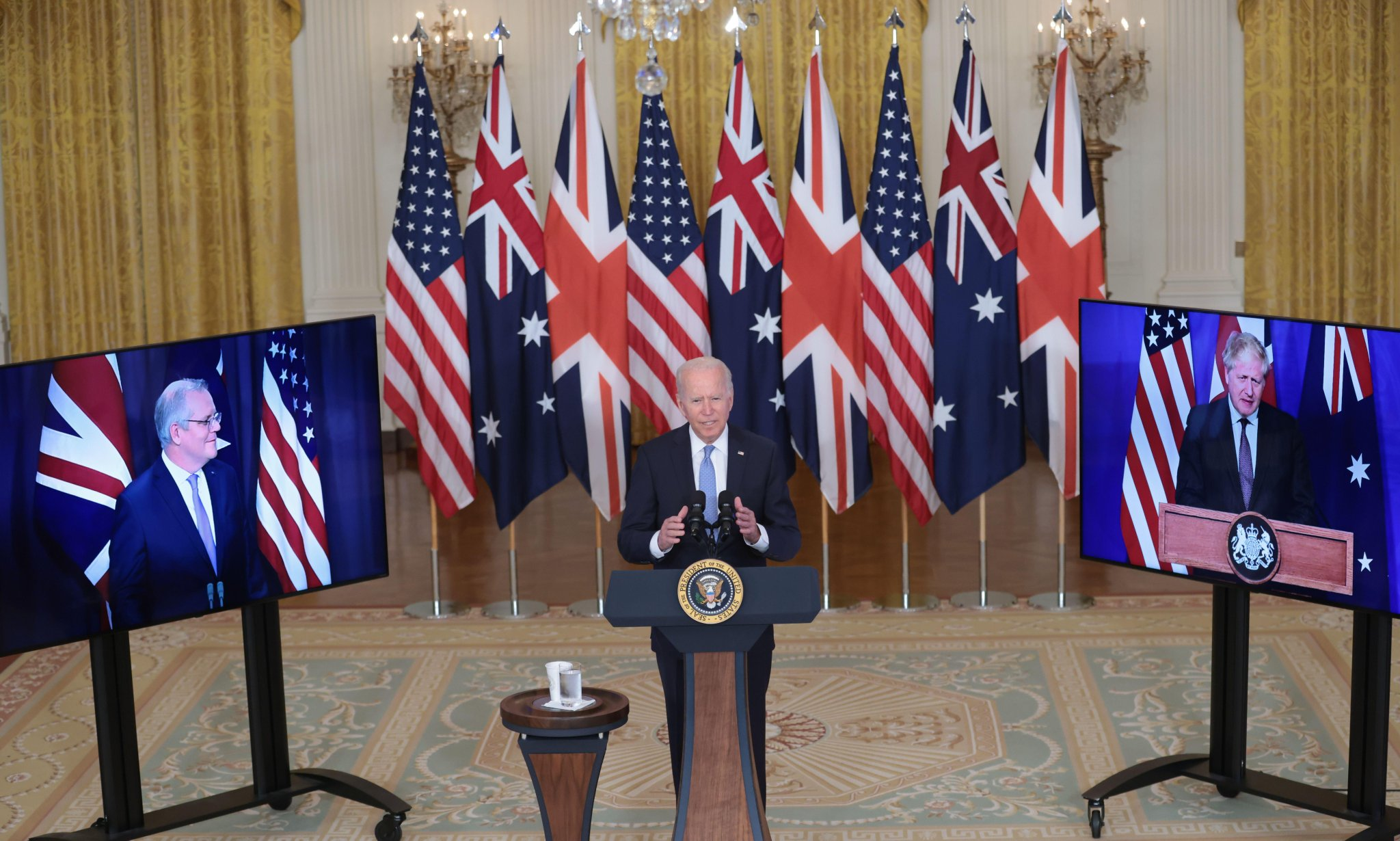 Aukus pact: UK and US battle to contain international backlash
