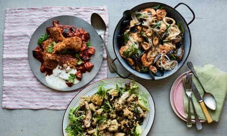 Harissa lamb and seafood noodles: Jane Baxter's 15-minute savoury recipes
