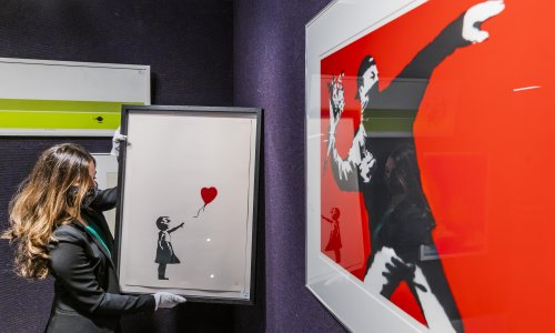 Banksy trademarks two of his best known artworks in Australia