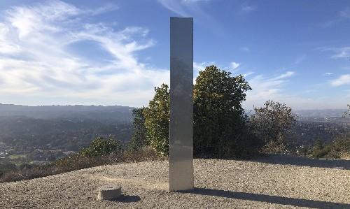Christian group tears down mysterious monolith on California mountain