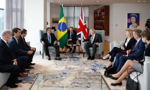 Brazilian minister tests positive for Covid after meeting maskless Johnson