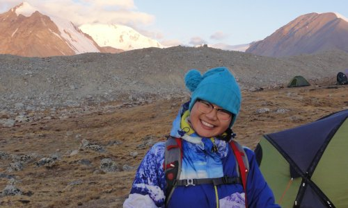 My Mongolian guide: walking with her was a joy
