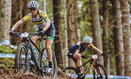 Australia's Olympic mountain biking couple helping each other to new heights