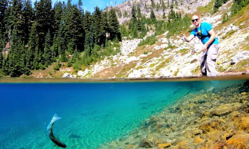 A YouTuber goes wild fishing and camping in the Cascade mountains