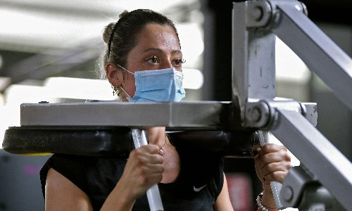 Face masks safe to use during intense exercise, research suggests