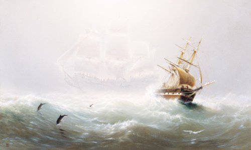 Storm-stricken sailors haunted by fear of the Flying Dutchman