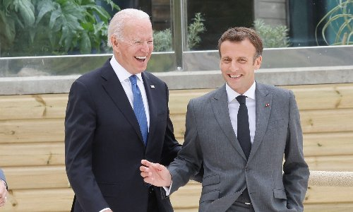 Jilted Johnson: Biden in beeline for Macron and Carrie at G7