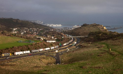 The estate on the frontline of Dover traffic chaos – a photo essay