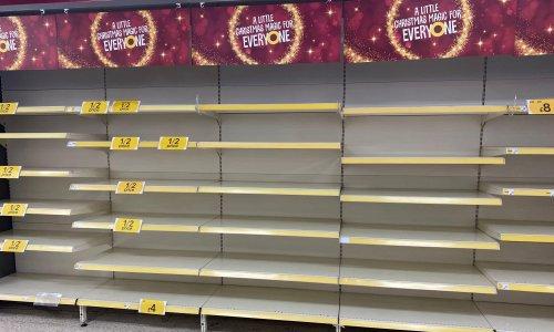 Bare shelves, no holidays… At last, a biblical kind of Christmas