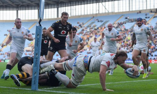 Relentless Exeter turn on the power to edge out Wasps in thriller