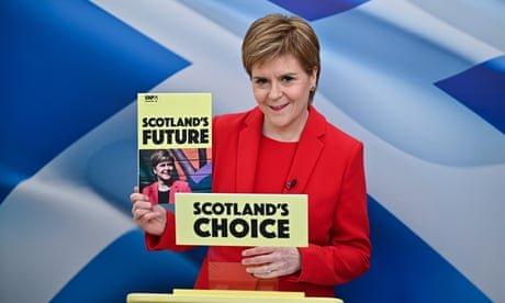 Sturgeon promises four-day working week pilot at SNP manifesto launch – politics live