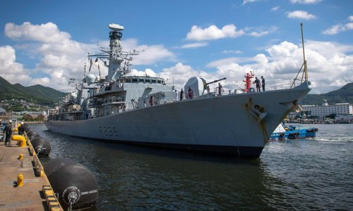 UK sends warship through Taiwan strait for first time in more than a decade