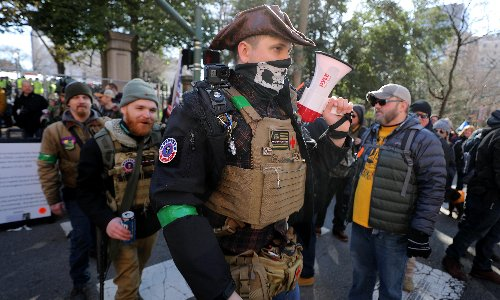 Facebook is bombarding rightwing users with ads for combat gear. See for yourself