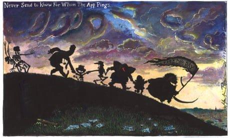 Martin Rowson on the UK's Covid 'pingdemic' – cartoon