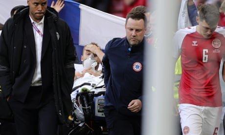 Denmark 0-1 Finland: Christian Eriksen awake after collapse – as it happened