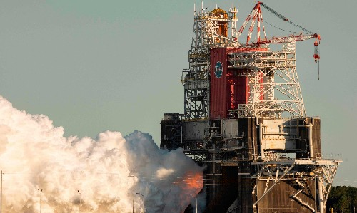 Nasa's Space Launch System cuts short vital test