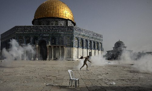 Jerusalem seethes as the rockets begin on day of rising tension