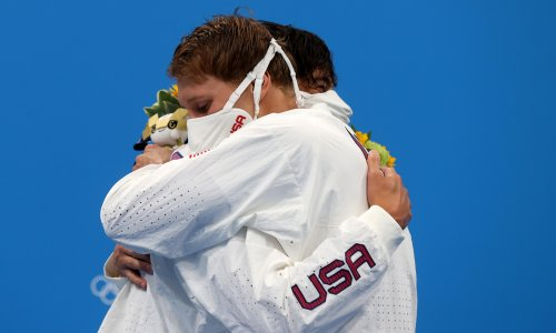 Athletes warned to stop hugging each other on Olympic podium