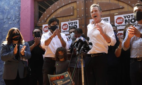 'It was never about saving Newsom': how Latino voters played a major role in California