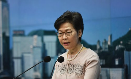 Hong Kong leader defends election after single opposition figure makes it to 1,500-strong committee