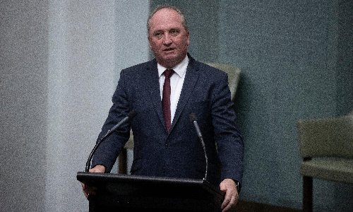 Barnaby Joyce says purchase of shares for son in company he quizzed at public inquiry 'was reasonable'