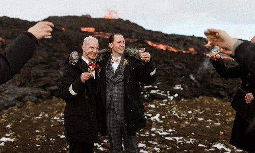 Lava in a cold climate: Icelanders rush to get wed at volcano site