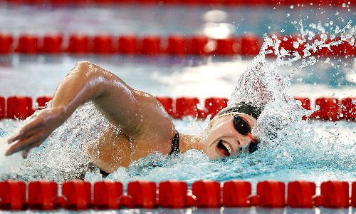 Katie Ledecky wins by 21 seconds at comeback meet after one-year break