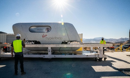 First passengers travel in Virgin's levitating hyperloop pod system