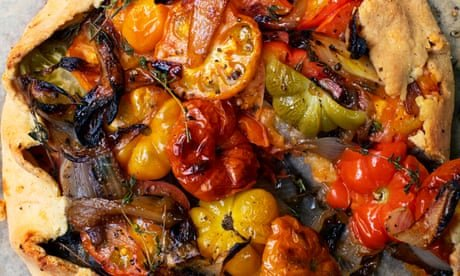 Nigel Slater's recipes for tomato tart, and gooseberry fool
