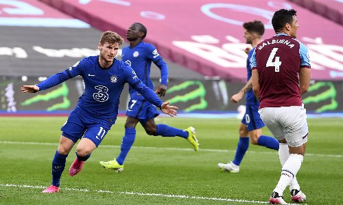 Timo Werner gives Chelsea upper hand in top-four race against West Ham