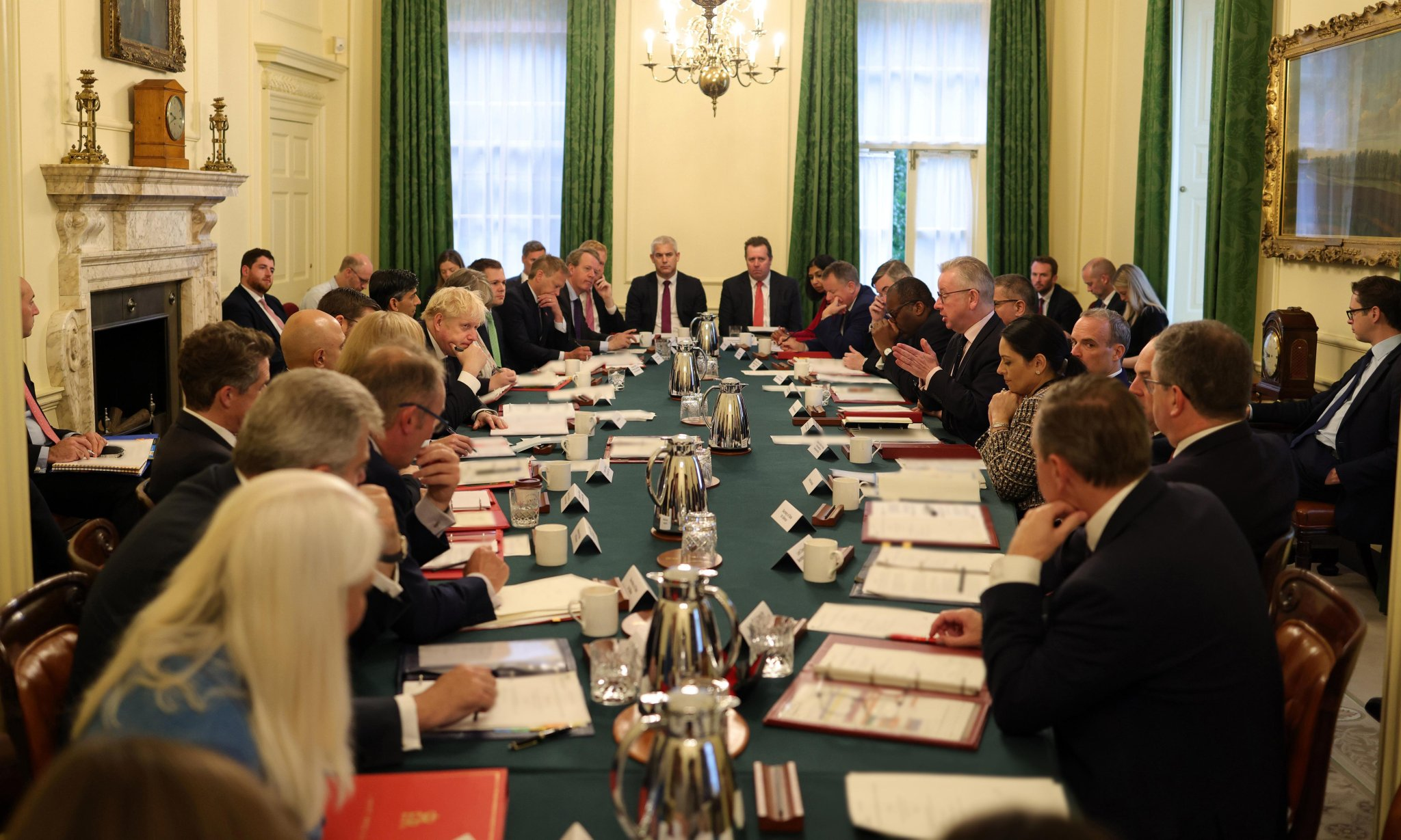 'One rule for them': Boris Johnson criticised for maskless cabinet meeting