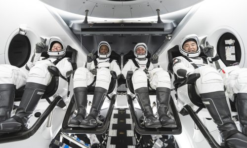 SpaceX Nasa launch: astronauts head to International Space Station onboard Dragon capsule