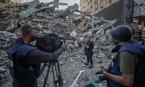 Associated Press chief calls for independent inquiry into Israel bombing of its Gaza office