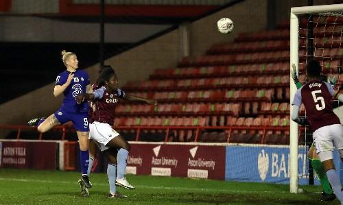 Chelsea set WSL unbeaten run record with comfortable win at Aston Villa