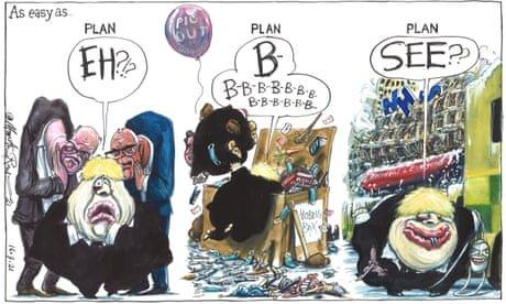 Martin Rowson on Boris Johnson's winter coronavirus plan – cartoon