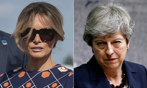 Melania Trump and Theresa May show some real fight. Better late than never