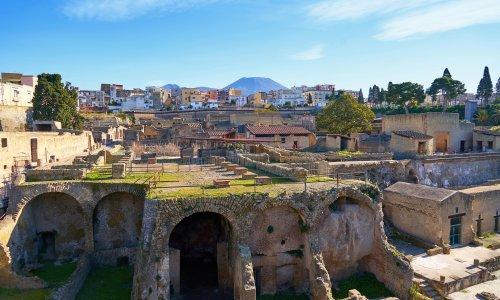 'Sensational': skeleton buried in Vesuvius eruption found at Herculaneum