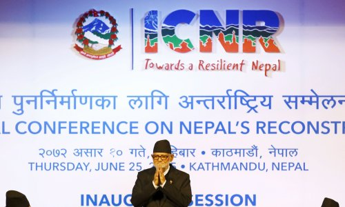 Nepal donors pledge $3bn for rebuilding in aftermath of earthquakes