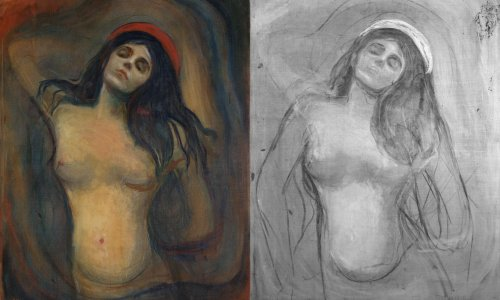 Strike a pose: infrared scans reveal the method in Munch's Madonna