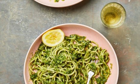 Meera Sodha's vegan recipe for broccoli and zhoug spaghetti