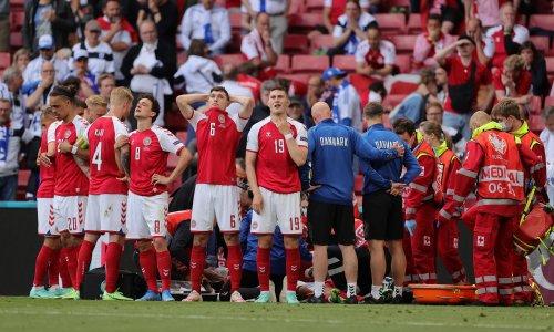 Christian Eriksen collapsed and the stadium fell silent in horror
