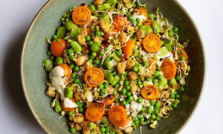 Nigel Slater's recipe for sprouted seeds, chickpeas and beans