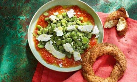Broad bean, dill and tomato salad by Georgina Hayden